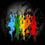 Grunge Violinenhintergrund Stockfoto