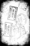 Grunge Visa Stamps Stock Photography