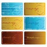 Grunge Visitenkarten Lizenzfreie Stockfotos