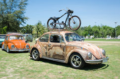 Grunge Volkswagen Beetle Royalty Free Stock Photography