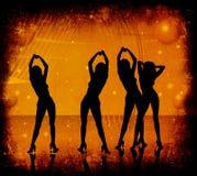 Grunge, vrouwen het dansen Royalty-vrije Stock Foto's