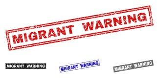 Grunge WĘDROWNEGO ostrzeżenia prostokąta Textured Watermarks royalty ilustracja