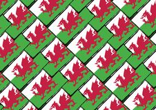 Grunge WALES flag or banner. Vector illustration Stock Photos