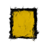 Grunge wall. An illustration of a nice grunge wall black and yellow Royalty Free Stock Image