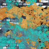 Grunge wall. Chipped paint and spaltter on abandoned wall Royalty Free Stock Photo
