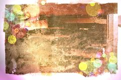 Grunge wall background with bubble Royalty Free Stock Photo