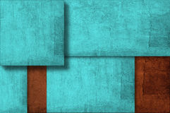 Grunge wall background on multiple planes Royalty Free Stock Photography