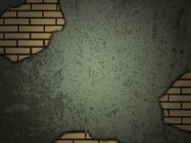 Grunge wall with brick holes Royalty Free Stock Image