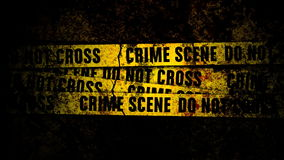 Grunge Wall with Crime Scene Lines and texture stock video footage