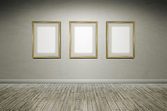 Grunge wall frames Royalty Free Stock Photography