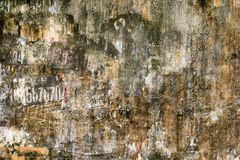 Grunge Wall, Hanoi, Vietnam Royalty Free Stock Images