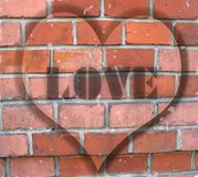 Grunge wall with love royalty free stock images