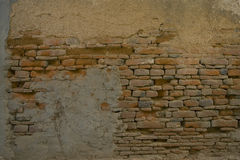 Grunge wall of the old house. Textured background Royalty Free Stock Photos