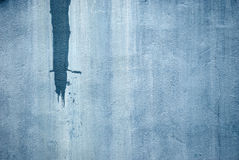 Grunge wall painted blue Stock Photos