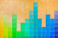 Grunge wall painted in rainbow colors Royalty Free Stock Photography