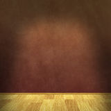 Grunge Wall with Parquet floor Stock Photography