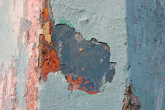 Grunge wall with peeling paint Stock Photography