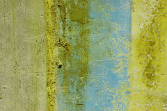Grunge wall with peeling paint Royalty Free Stock Photos