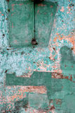 Grunge wall with peeling paint Stock Photo