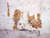Grunge wall with peeling paint Royalty Free Stock Images