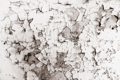 Grunge wall with peeling paint,great background or Stock Photography