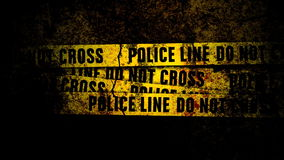 Grunge Wall with Police Lines and texture stock footage