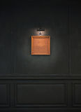 Grunge Wall with Retro Picture Frame and Lights Royalty Free Stock Image