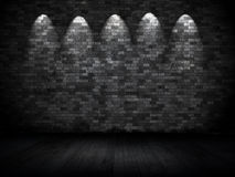 Grunge wall with spotlights Royalty Free Stock Photo