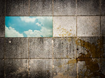 Grunge wall stone Stock Images