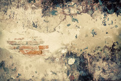 Grunge wall of the temple. Royalty Free Stock Image