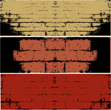 Grunge WALL  vector background. An illustration of Three different types of WALL  vector background Royalty Free Stock Photography