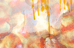 Grunge wall and watercolor Royalty Free Stock Photography