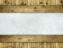 Grunge wall on wood background Royalty Free Stock Photo