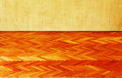 Grunge wall and wood floor background Royalty Free Stock Image