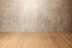 Grunge wall, wooden floor background Royalty Free Stock Images