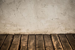 Grunge wall and wooden floor Stock Photos