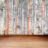 Grunge wall and wooden floor texture Royalty Free Stock Image