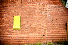 Grunge Wall Yellow Window Stock Photos