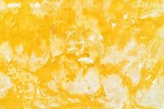 Grunge Walll Żółta tekstura Zdjęcia Royalty Free