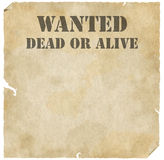 Grunge Wanted Dead or Alive Poster Royalty Free Stock Image