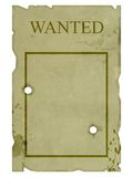 Grunge wanted poster Stock Photos
