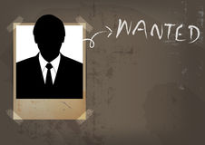 Grunge wanted poster design Royalty Free Stock Photo