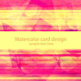 Grunge watercolor card design Royalty Free Stock Photos