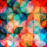 Grunge watercolor circle seamless pattern Royalty Free Stock Images