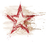 Grunge watercolor star Stock Image
