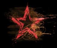 Grunge watercolor star vector illustration