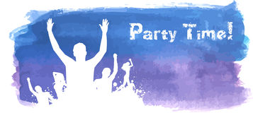 Grunge watercolored party background Royalty Free Stock Photos