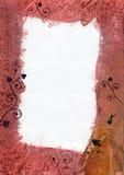 Grunge wax frame. Abstract grunge photo frame, handmade encaustic print, autumn colours vector illustration
