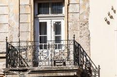 Grunge weathered crumbling balcony Stock Photo