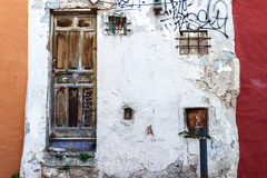 Grunge weathered facade Stock Images